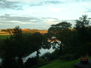 Sunset over the River Dee