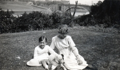 Derrick & Ivy Dutton with Spot, Beech Holme, 8 Curzon Park North, Chester circa 1920