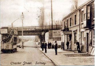 Tram in Chester St.Saltney